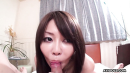 Slutty Asian chick sucking ass and riding a dick