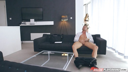 Sexy babes Taylor Sands and Stella Cox are hungry for cock