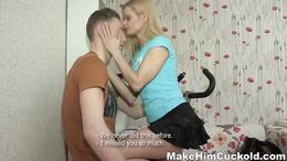 Sassy big tits blonde gets a kinky anal fuck before she enjoys a shag