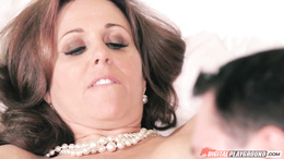 Julia Ann gets her pussy fucked by John Strong