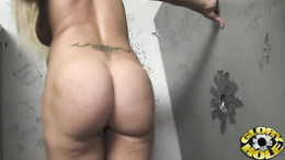 Horny Heidi Mayne shows off her perfect round ass