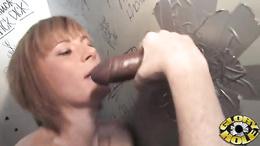 Roasting red head Allison Wyte is covered in dick milk