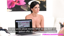 FemaleAgent Busty make up artist gets agent horny