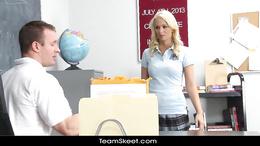 InnocentHigh Blonde schoolgirl fucks horny coach