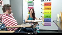 InnocentHigh Sexy schoolgirl teen blows fucks classmate