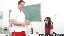 InnocentHigh Valentine Special Teen Lily Carter fucked
