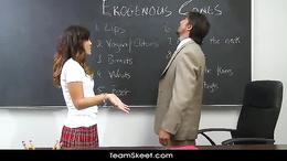 InnocentHigh Asian schoolgirl teen Alliyah Sky shaved p