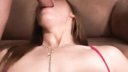 Sexy tramp milf Roxetta deepthroating a big cock and getting a load of cum