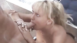 Chennin Blanc getting pussy pounded till she receives a gallon of jizz on face