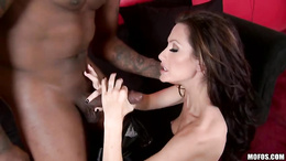 Dark dick lover Randy Wright swallows a massive dick