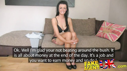FakeAgentUK Sexy fake casting amateur takes huge facial