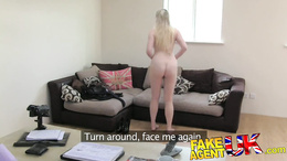 FakeAgentUK Blonde MILF craves hard cock fake casting