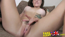 FakeAgentUK anal and Deep throating from shy amateur