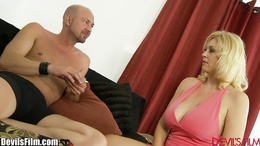 DevilsFilm Big Titty MILF Strip and Fucked
