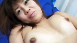 Tomomi strongly pumped by two fellows