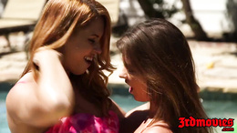 Edyn Blair and Alice Lighthouse poolside pussy lickers