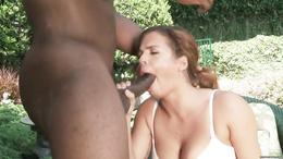 Interracial sex with Keisha Grey receiving a big black cock