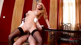 Scorching Cathy Heaven gets her ass splattered with cum