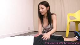 Japanese teen fucked on the floor
