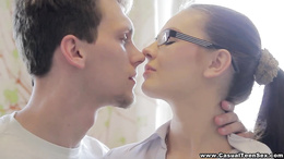 Casual Teen Sex - Casual sex with college nerd