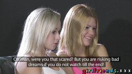 Girlfriends Perfect tits blonde and her lesbian lover