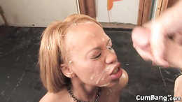 Melrose Foxxx loaded with cum from hot guys