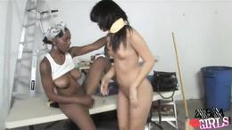 Chelsie Rae and Erika Vuitton black and white hot girls
