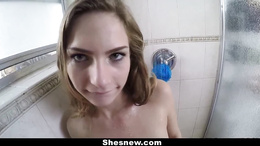 ShesNew - Sydney Cole gets Fucked in the Bathroom