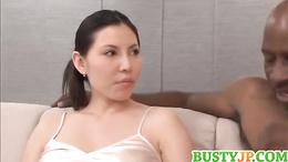 Sophia busty enjoys threesome