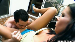 Sexy Sea J Raw sucks a massive hard juicy dick in her sweet mouth