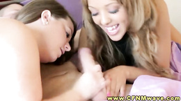 CFNM group blow their studs dick