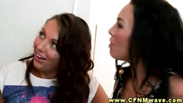 CFNM sluts play jerk off joke