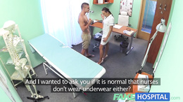 FakeHospital Ripped stud gets naughty nurses treatment