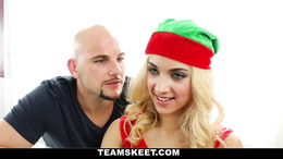 Gorgeous blonde chick gets a proper hardcore shag on christmas