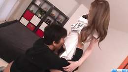 Gorgeous Asian pornstar Arisa Kuroki big big booty gets fucked
