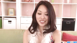 Unforgettable sexy An Yabuki tries solo masturbation and it is juicy