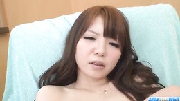 Graceful slut Aya Eikura plays with  pussy with big vibrating toys