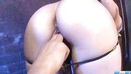Mami Yuuki sucks dick passionately and gets a hard doggystyle fuck