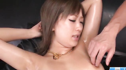 Once getting rid of clothes, kinky Aika shows you her wet pussy
