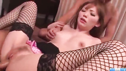 Buruma Aoi getting nailed by two hueg throbbing dicks superbly