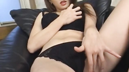 Hairy pussy Yuki Touma goes solo and makes us all cumming hard