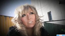 Long nails and sexy blonde hair make this sexy Ryuu Narushima lovable