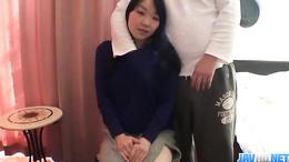 Japanese mom Mayu Kudo gets undressed and fucked hard with toys