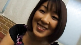 Smileful bitch Miyuki Hashida gets a hard cock down the throat