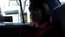 Kinky Marin walks naked in public and masturbates in the back of a car