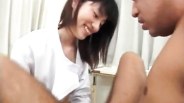 Saki Mutoh enjoys having that massive cock deep in her wet twat