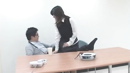 Asian secretary Sayuri Marui needs cock to play with this morning