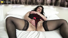 Steamy BBW shows off her round ass and fucks her fat pussy with a toy