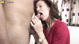 Beautiful curvy milf sucks that monstrous cock before getting rammed