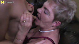 Sunning lesbian foursome with a horny granny and three hot matures